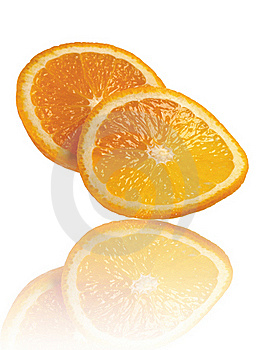 Orange Isolated On A White Background Stock Photography - Image: 16344842