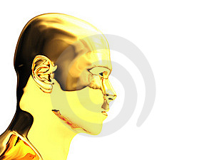 Golden Head Royalty Free Stock Images - Image: 16344949
