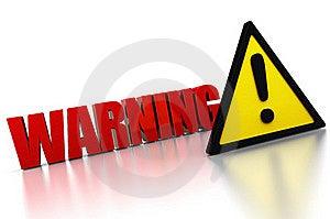 Warning Sign Royalty Free Stock Photo - Image: 16345065
