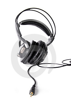 Isolated Powerful Stereo Headphones Royalty Free Stock Image - Image: 16346616
