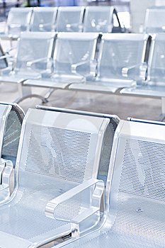 Empty Airport Chairs Stock Image - Image: 16347071