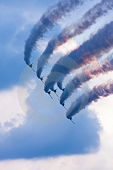Flying Demonstration Royalty Free Stock Photos - Image: 16348668