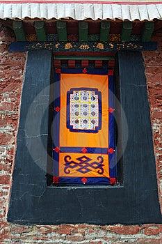 Tibetan Window Royalty Free Stock Photography - Image: 16349437
