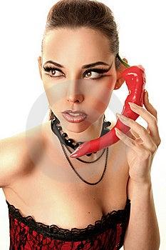 Chili Phone Royalty Free Stock Image - Image: 16349636