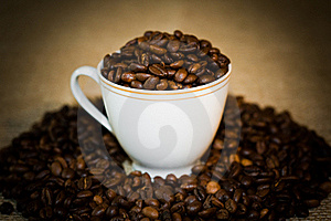 The Cup Full Of The Coffee. Stock Image - Image: 16350181