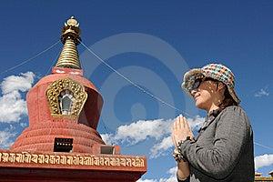 Pilgrim In Tibet Royalty Free Stock Image - Image: 16350326