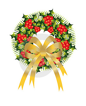Christmas, Bells, Xmas, Golden, Holly, Decoration, Stock Photography - Image: 16350372