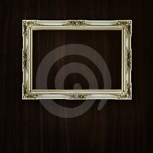 Vintage Frame On Dark Wood Stock Image - Image: 16352731