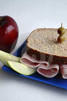 Ham Sandwich On Whole Wheat Royalty Free Stock Photography - Image: 16353077