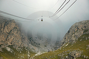 Cable-way In Alps. Stock Photos - Image: 16355023