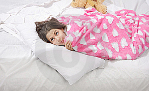Surprised Woman In Bed Stock Image - Image: 16355501