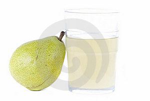 Pear With Glass Of Juice Royalty Free Stock Photo - Image: 16356925