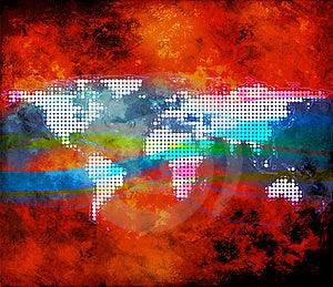 World Map Illustration Stock Photo - Image: 16357490