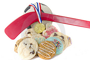 Homemade Cookies For Sporting Event Royalty Free Stock Images - Image: 16357569