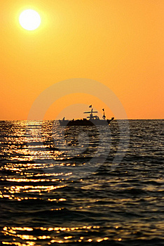 Boat In The Sea Stock Photos - Image: 16357973