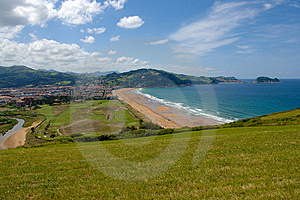 Bay Zarautz Stock Images - Image: 16358354