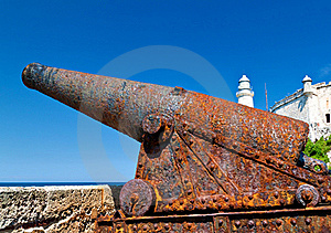An Old Rusty Cannon In The Castle Of El Morro In H Stock Images - Image: 16359834