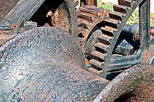 Closeup Of Old Rusty Hoist Stock Photography - Image: 16359952