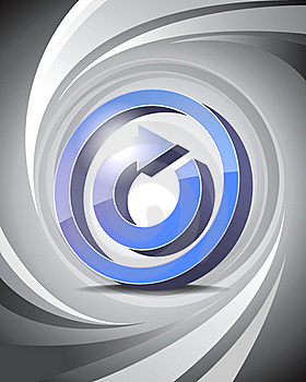 3D Icon Reload Stock Photography - Image: 16360522