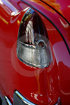 Shiny, Red Classic Car Stock Photography - Image: 16361192
