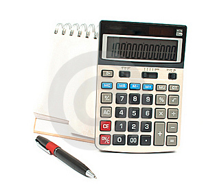 Calculator, A Pen, A Diary Royalty Free Stock Images - Image: 16361499