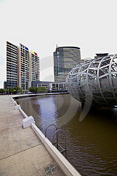 Melbourne Docklands And Webb Bridge Royalty Free Stock Images - Image: 16361629