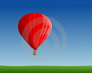 Hot Air Ballon In Sky Stock Photo - Image: 16363310