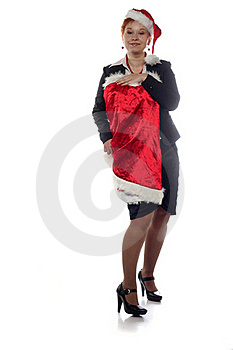 Office Girl Is Trying On New Year Dress Royalty Free Stock Photos - Image: 16365218