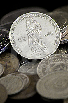 Soviet Obsolete Coins Stock Photo - Image: 16365310