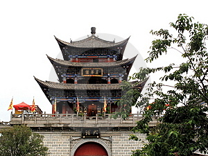 Wu Hua Tower In Ancient City Of Dali Stock Photo - Image: 16366480