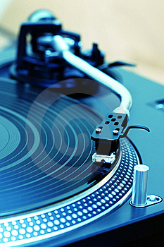 Turntable Playing Vinyl Record Royalty Free Stock Photos - Image: 16367508