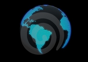 Globe Made With Dot Lights Stock Image - Image: 16367601
