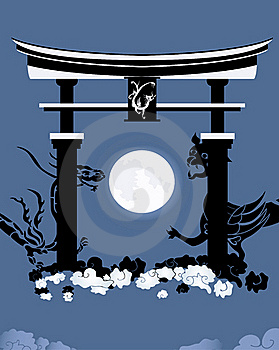 Torii, Gate In A Kingdom Of The Dead Royalty Free Stock Images - Image: 16367789