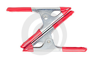 Two Spring Clamps Stock Photo - Image: 16371070