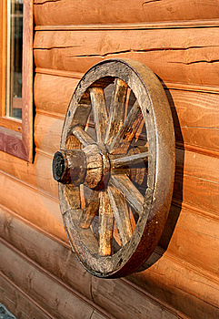 Old Wooden Wheel From A Cart Royalty Free Stock Image - Image: 16371226