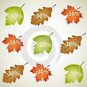 Autumnal Discount Stock Image - Image: 16372321