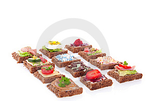 Varied Slices Sandwiches Royalty Free Stock Photo - Image: 16373625