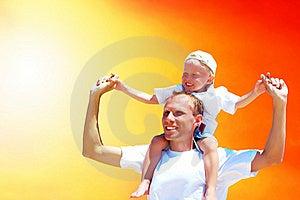 Joyful Son För Fader Royaltyfri Bild - Bild: 16373746