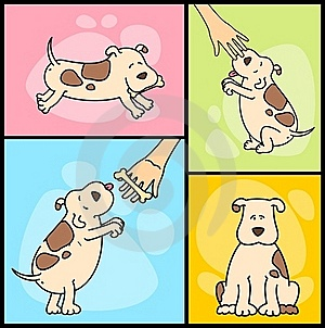 Illustration Of Cartoon Dogs Stock Images - Image: 16375304