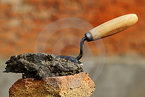 Tool  Shovel  Cement Stock Photos - Image: 16382723