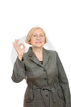 Smiling Senior Business Woman Stock Photography - Image: 16383352
