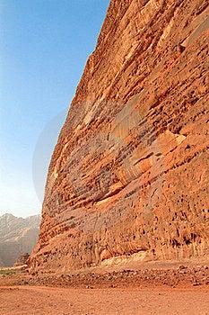 Desert Rock Formation - Wadi Rum, Jordan Royalty Free Stock Photos - Image: 16383428