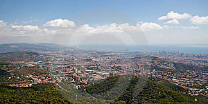 Panorama Of Barcelona Stock Photo - Image: 16387600