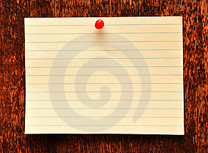 Blank Adhesive Note Against Old Wood Background Royalty Free Stock Images - Image: 16392419