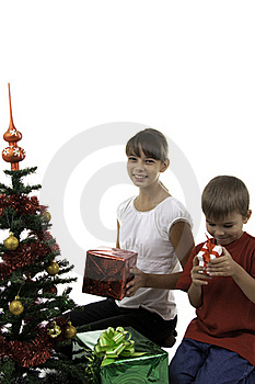 Children Have Received Gifts Stock Photo - Image: 16392540