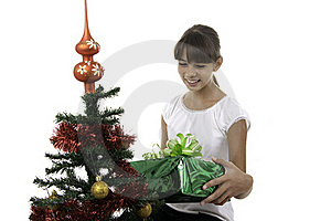 The Girl Has Received Gifts Stock Images - Image: 16392624