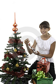 The Girl Has Received Gifts Royalty Free Stock Images - Image: 16392649