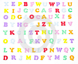 Tiny Alphabet Stock Images - Image: 16392794