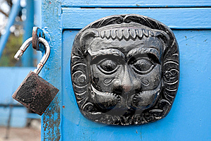 Original Metal  Door Decoration And Lock Stock Photos - Image: 16393413