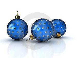 Christmas Balls Over White Stock Image - Image: 16393851